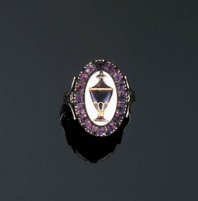 A Fine Amethyst and Enamelled