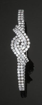 A Diamond Bracelet Watch by Ca