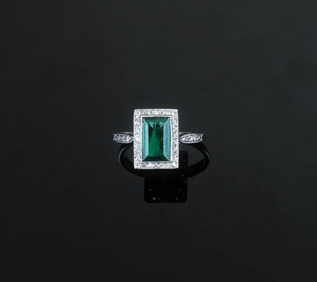 A Fine Edwardian Emerald and D