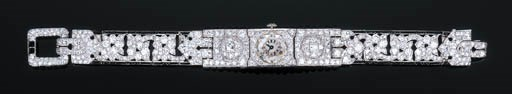 A Fine Art Deco Diamond and Bl