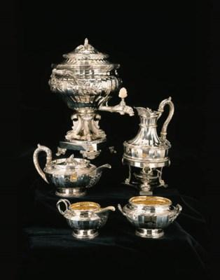 A George III silver five-piece