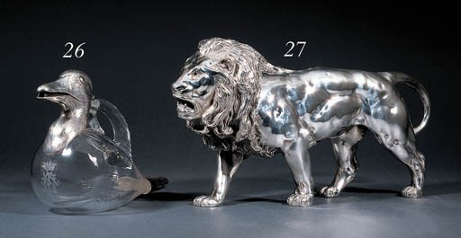A German silver sculpture