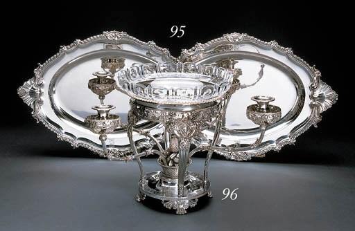 A pair of George IV silver mea