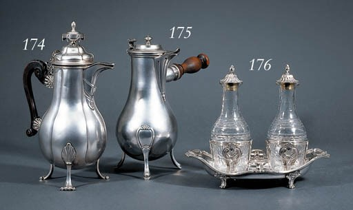 A French silver coffee-pot