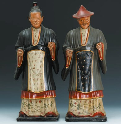 A LARGE PAIR OF CHINESE-EXPORT