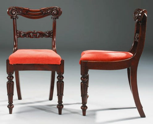 A SET OF TEN GEORGE IV DINING-