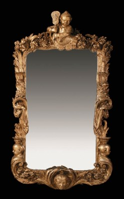 A GERMAN GILTWOOD CHINOISERIE