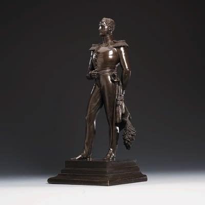 A bronze group of Tsar Nicolas