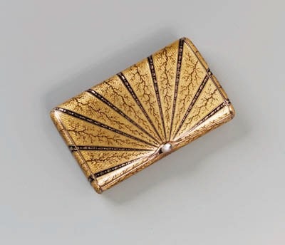 A gold guilloch enamel Cigaret