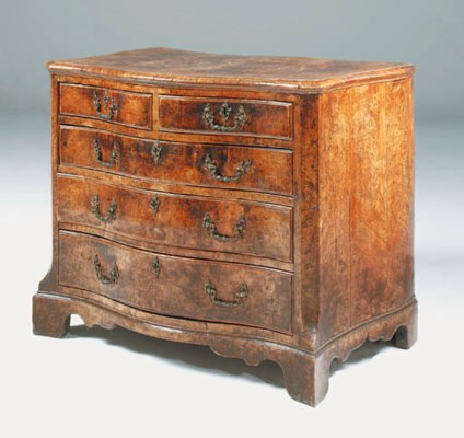 A GEORGE II SOLID BURR-ELM AND