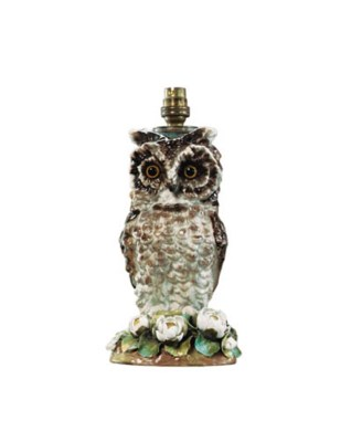 An English porcelain brown owl