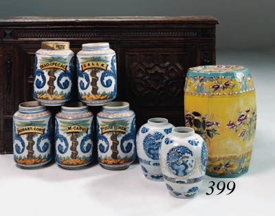 An English pottery chinoiserie
