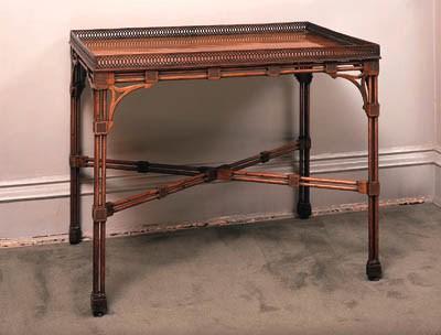 A MAHOGANY SILVER-TABLE