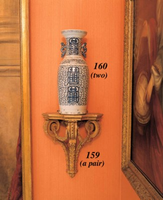 A PAIR OF GILTWOOD AND GILT-CO