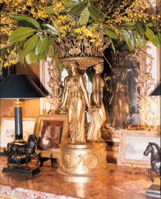 A PAIR OF ORMOLU CENTREPIECES