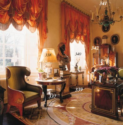 A REGENCY BRONZED-PLASTER AND