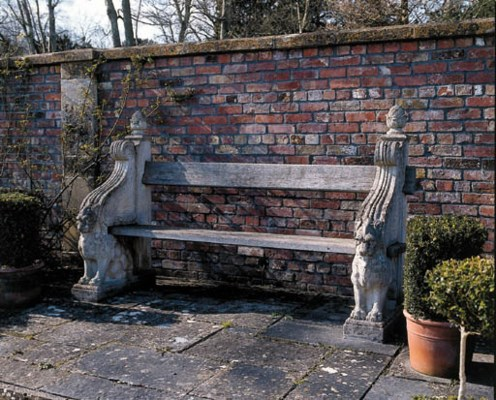 A PAIR OF COMPOSITE STONE AND