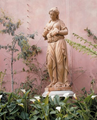 A TERRACOTTA MODEL OF A YOUNG