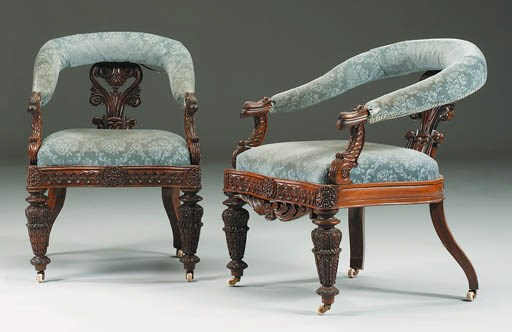 A PAIR OF ANGLO-INDIAN ROSEWOO
