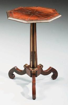A REGENCY BRASS-MOUNTED AND BR