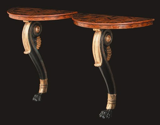 A PAIR OF PARQUETRY, BRONZED A