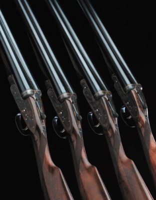 AN UNUSUAL SET OF FOUR 12-BORE