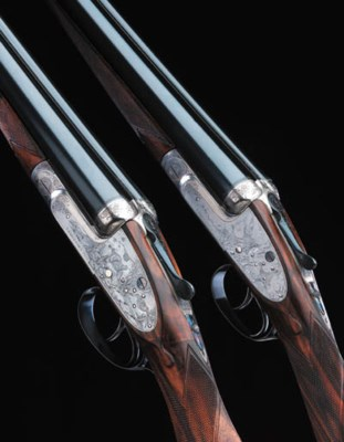 A PAIR OF GAME-ENGRAVED 12-BOR