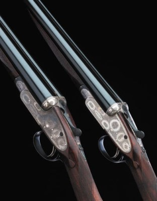 A PAIR OF 20-BORE SINGLE-TRIGG