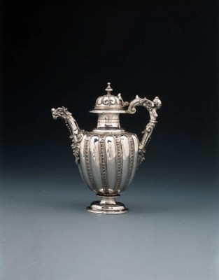 An Italian silver coffee-pot