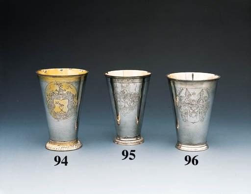 A Baltic parcel-gilt silver be