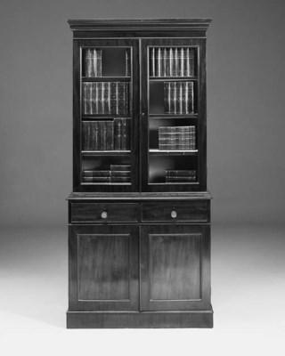 A mahogany bookcase, 20th cent
