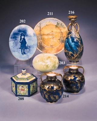 A Burslem globular vase