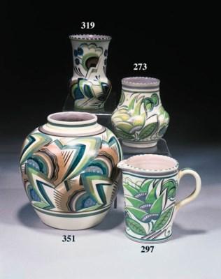 A shouldered ovoid vase