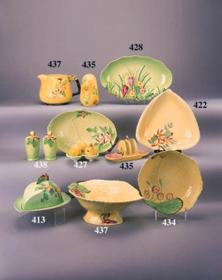 An oval pedestal dish