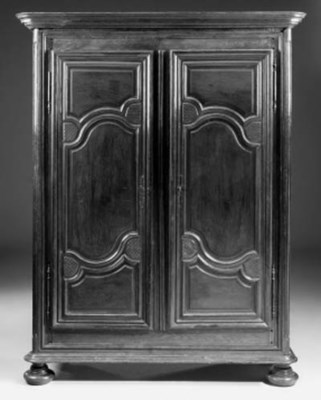 A French walnut armoire, late