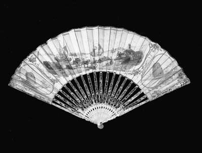 A rare printed fan, possibly D