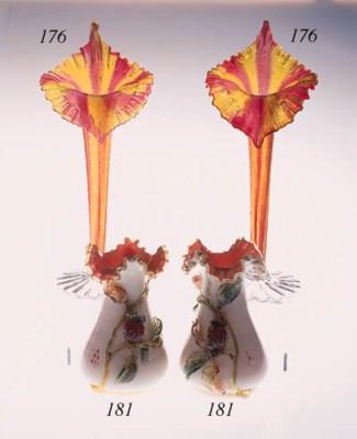 A pair of Stourbridge oviform