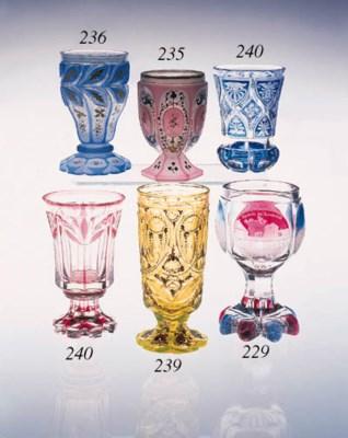 A Bohemian 'annagelb' goblet f