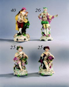 Two Derby figures of putti