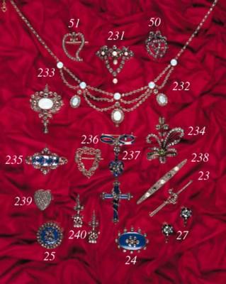 An antique rose-cut diamond an