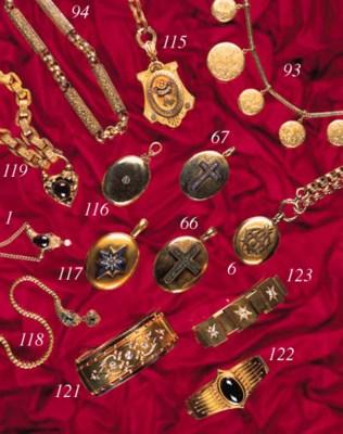 A Victorian gold and gem brace