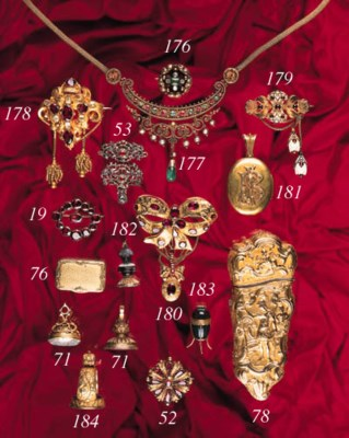 A 19th Century gold and gem br