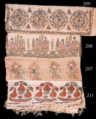 An unusual embroidered muslin