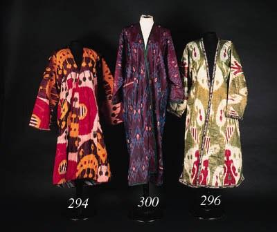 A silk ikat coat