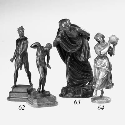 A French bronze figure of a da