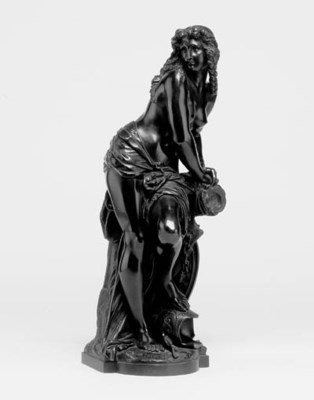 A French bronze figure of a st