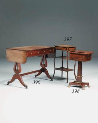 A mahogany sofa table, 20th ce