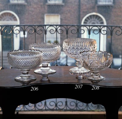 A cut pedestal bowl, 19th cent