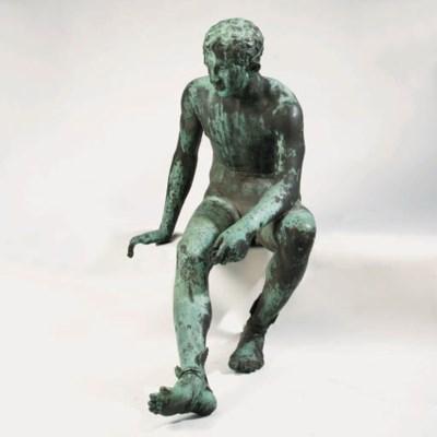 A large Neapolitan bronze figu