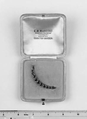 A ruby and diamond brooch,